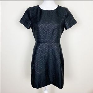 Madewell black fitted brocade dress
